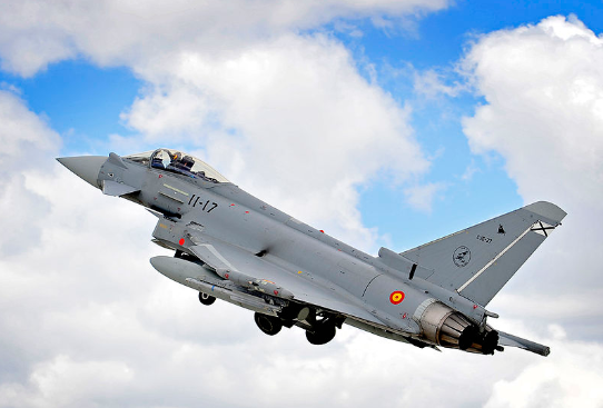 Eurofighter Typhoon de la Fuerza Aérea Española. (Wikimedia)