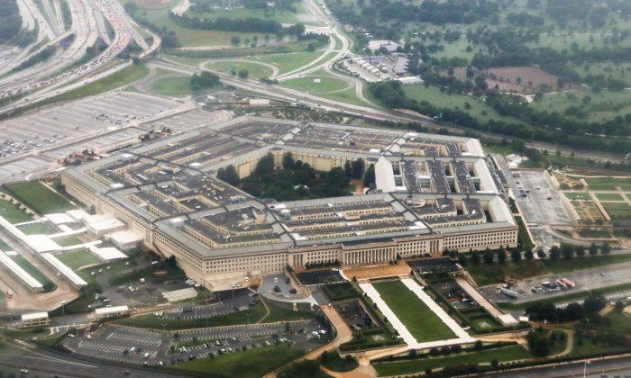 Una vista aérea del Pentágono en Arlington, Virginia, el 12 de agosto de 2018. (Charlotte Cuthbertson/La Gran Época)