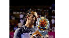 Tenis: TenFognini sorprende a Del Potro y gana el título en el Abierto de Los Cabos