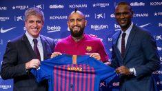 """El chileno Vidal ya es parte del Barça y confesó que vino """"para ganar la Champions"""""""