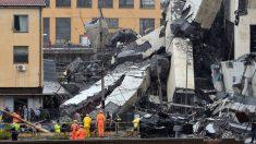 Caen al vacío numerosos vehículos de un puente en Italia: 20 muertos y decenas de heridos atrapados