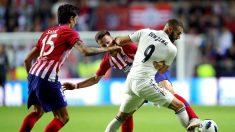 Real Madrid vs Atlético de Madrid empatan a 1 en los primeros 45 minutos en la Supercopa de Europa