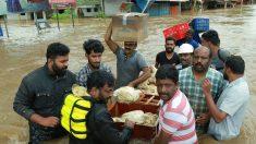 Kerala sigue bajo el agua y se esperan nuevas lluvias torrenciales al sur de India