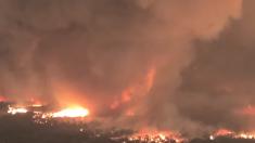 "Imágenes del incendio de California muestran ""tornado de fuego' que mató a un bombero"