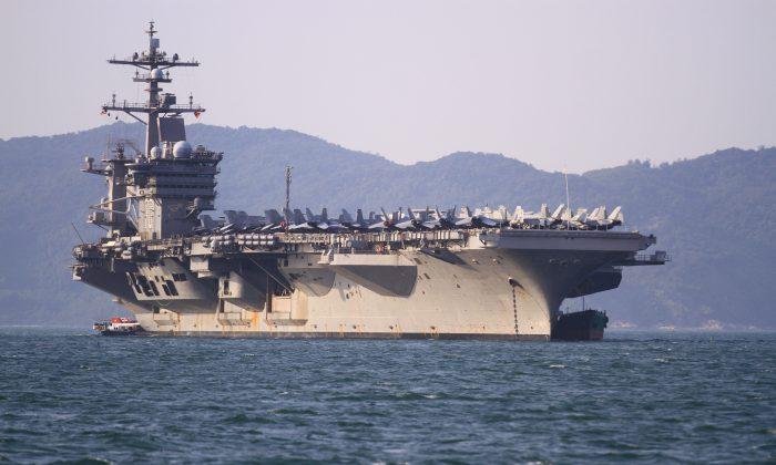 Como parte de la iniciativa para reforzar los vínculos con Vietnam, el USS Carl Vinson visita Danang el 5 de marzo de 2018. (LINH PHAM/AFP/Getty Images)