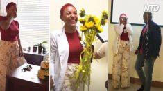 Esta maestra recibe una gran sorpresa de cumpleaños de su novio con la complicidad de sus alumnas