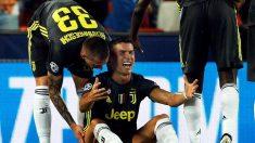 Cristiano Ronaldo, expulsado a la media hora en su estreno europeo con el Juventus