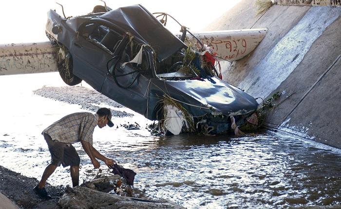 Vista general de daños ocasionados por las lluvias en diferentes municipios en la ciudad de Culiacán, en el Estado de Sinaloa (México). EFE