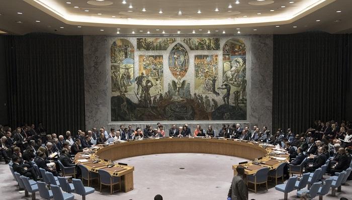 Fotografía cedida por la ONU, de una vista general del pleno del Consejo de Seguridad durante una reunión sobre el mantenimiento de la paz y la seguridad internacional, centrada en la no proliferación de armas de destrucción masiva, miércoles 26 de septiembre de 2018, en la sede del organismo en Nueva York (EE.UU.). EFE/ONU