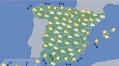 Las temperaturas suben el domingo en el área cantábrica, Alto Ebro e el interior peninsular