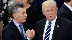"""Trump expresa apoyo total al gobierno argentino: """"Confío en el liderazgo del presidente Macri"""", afirmó"""