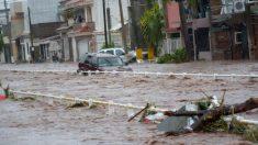 Las peores lluvias en 10 años dejan un muerto en México tras el paso de la depresión tropical 19-E