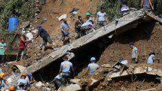 Luchan por rescatar decenas de personas atrapadas en una mina que sepultó el tifón Mangkhut