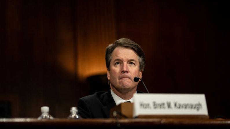 El juez Brett M. Kavanaugh testifica ante el Comité Judicial del Senado, 27 de septiembre de 2018. (Erin Schaff-Pool/Getty Images)