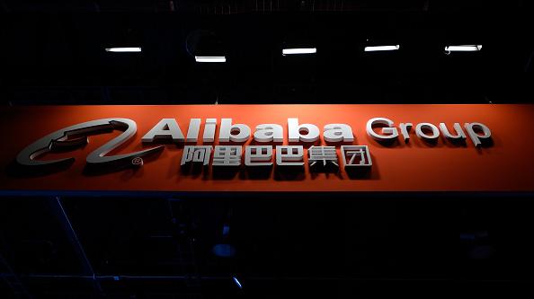 Un cartel del Grupo Alibaba en el Consumer Electronics Show 2017 en Las Vegas, el 5 de enero de 2017. (David Becker/Getty Images)