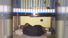 El cansancio no impidió que este extraordinario padre llegara al hospital con su hijo