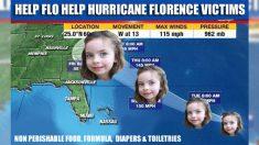 Una niña crea una organización benéfica para ayudar a las personas afectadas por el huracán Florence