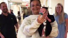 """Mira la emocionante """"graduación"""" de este bebé prematuro del único hospital que apostó por su vida"""