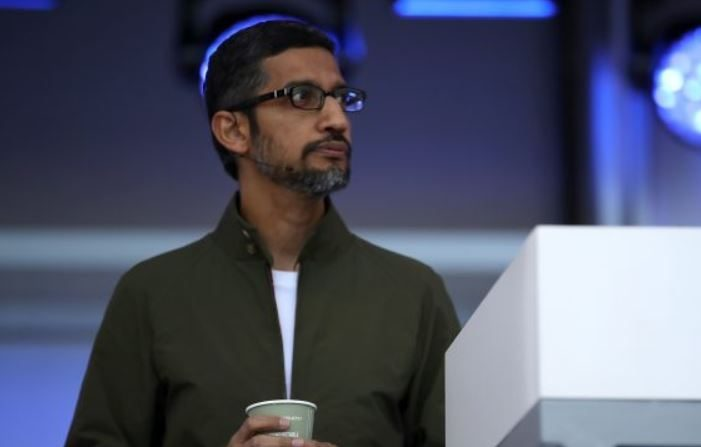 El CEO de Google, Sundar Pichai, en la Conferencia Google I / O 2018 en Mountain View, California, el 8 de mayo de 2018. (Justin Sullivan/Getty Images)