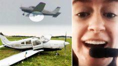 Esta piloto adolescente se ve forzada a aterrizar de emergencia a mitad del vuelo