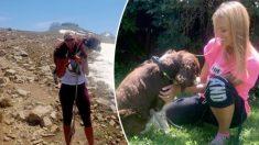 Excursionista encuentra un perro herido a 3000 metros de altura y toma una conmovedora decisión