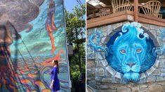 Un artista callejero da vida a edificios monótonos con sus maravillosos murales