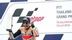 Márquez contento por la victoria y por los japoneses de su equipo