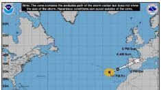 El huracán Leslie pierde intensidad pero se mueve más rápido hacia Portugal