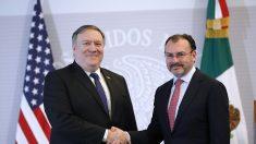 Pompeo pide profundizar cooperación con México para combatir el narcotráfico