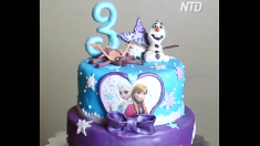 Este pastel al estilo Disney es tan hermoso que dejará tu corazón congelado