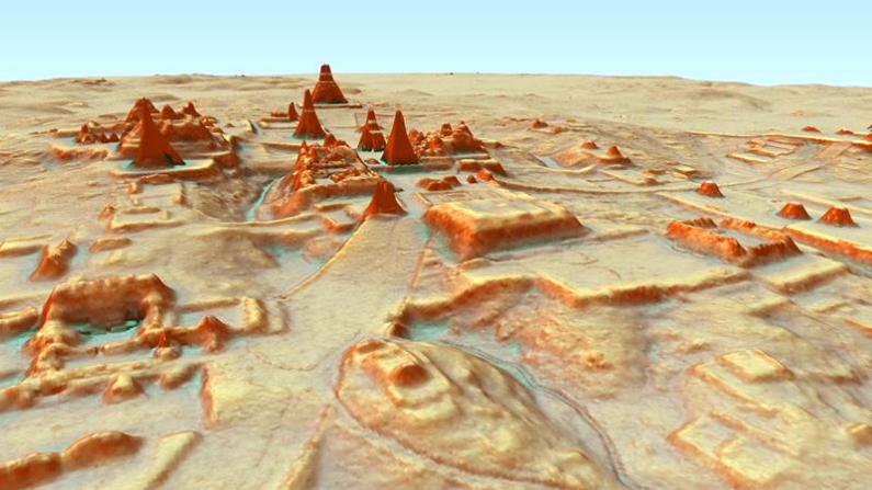 Arquelogía maya vista en imagen láser con tecnología Lidar. (Crédito: Lidar Initiative/Pacunam)
