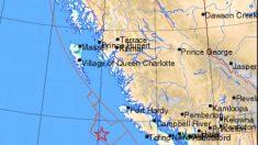 Tres terremotos en Canadá sobre 6,5 grados azotan la costa del Pacífico