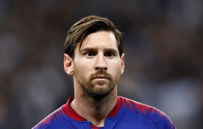 Lionel Messi, del Barcelona, durante el partido de la Liga de Campeones de la UEFA entre el Tottenham Hotspur y el FC Barcelona en el estadio de Wembley en Londres, Reino Unido. (Foto de Julian Finney/Getty Images)