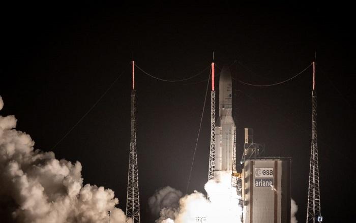La misión, llamada BepiColombo, es una misión conjunta de la ESA y Japón. BepiColombo se acercará a Mercurio en diciembre de 2025, la misión durará hasta mayo de 2027. (Foto de jody amiet / AFP) (El crédito de la foto debe ser JODY AMIET/AFP/Getty Images)