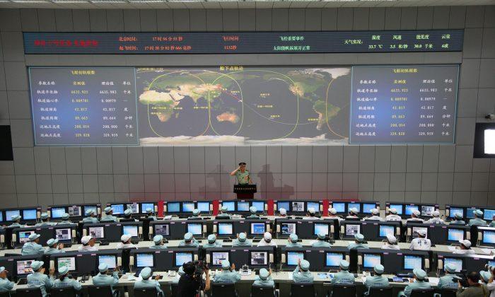 El centro espacial Jiuquan en el Desierto Gobi en Jiuquan, en la provincia Gansu al noroeste de China el 11 de junio de 2013. (AFP/AFP/Getty Images)