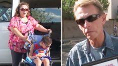 Intentó subir a su auto a su hijo discapacitado hasta que un empresario le ofreció algo increíble