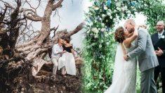 Fotos de boda entre los escombros del huracán demuestran que el amor es más fuerte que la tormenta
