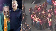 El jefe de bomberos fallece y sus compañeros le rinden homenaje escoltando a su hija a la escuela