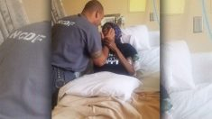 Gracias a compasivos policías este recluso pudo abrazar a su madre que agonizaba en el hospital