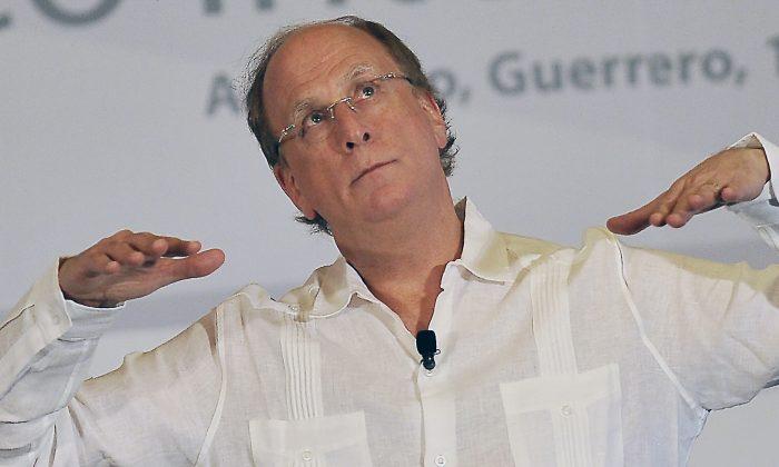 El CEO de BlackRock, Larry Fink, durante la 79ª Convención Anual de Banqueros en Acapulco, México, el 11 de marzo de 2016. (Pedro Pardo/AFP/Getty Images)