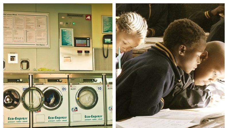 Para frenar el bullying hacia los chicos sin hogar, director instala una lavandería en la escuela