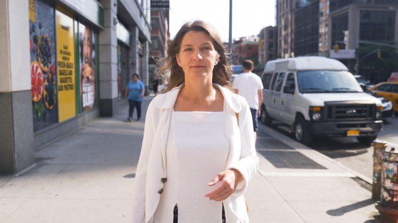 María en las calles de Nueva York. (La Gran Época)