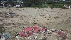 Un poblado entero fue aniquilado por el tsunami en isla indonesia de Sulawesi