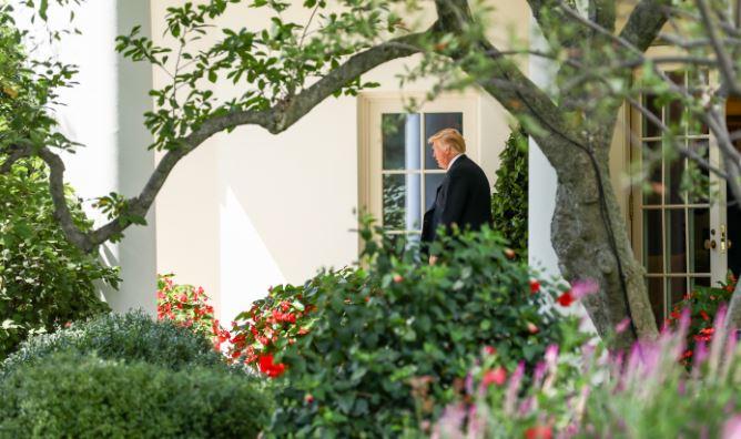 El presidente Donald Trump parte de la Casa Blanca el 31 de agosto de 2018. (Samira Bouaou / La Gran Época)