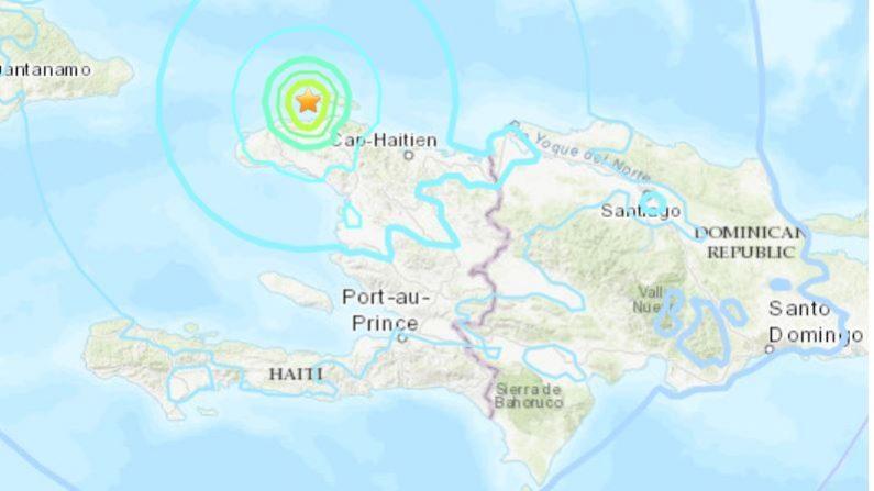 Terremoto en Haiti el 7 de octubre de 2018 a las 00:12 , hora UTC(USGS)