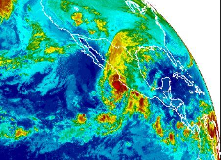 Huracán Willa el 22 de octubre de 2018 con vientos de 250 km/hora amenaza la población de México. (GOES/NOAA)