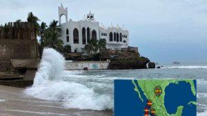 Oeste de México: Intensas tormentas y marejadas antes del huracán Willa y Vicente