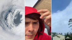Un video tomado desde ojo del huracán Michael muestra la inmensa calma detrás de la tormenta