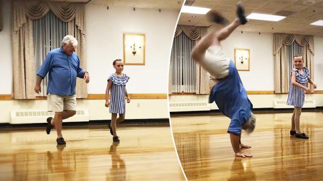 Con solo 10 años le pidió a su abuelo que fuese su pareja de baile, y él sorprendió a todos