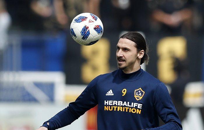 En la imagen, el delantero sueco Zlatan Ibrahimovic de Los Ángeles Galaxy. EFE/Archivo